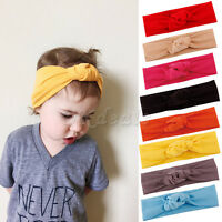Babys Toddler Cute Girls Kids Bow Hairband Turban Knot Rabbit Headband Headwear