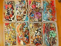 Vintage Old New Jewelry Lot ALL GOOD Necklace Earring Brooch Bracelet Lot 5Pcs+