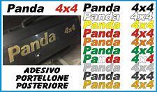 FIAT PANDA 4x4  ADESIVO PORTELLONE POSTERIORE COLORI VARI SPECIFICARE IL COLORE