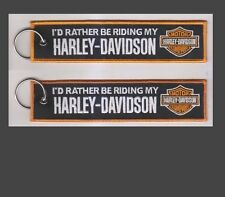 Harley Davidson Keyring Id rather be Riding my Harley. Motorbike, FAST UK (E7)
