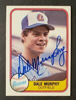 Dale Murphy Vintage Signed 1981 Fleer #243 CARD - AUTOGRAPHED - Atlanta Braves