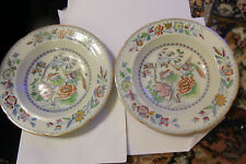 Two Mason's Ironstone Asiatic  Pheasant Soup Bowls - late 19th century