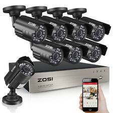 ZOSI 8CH 1080P CCTV DVR 1500TVL Outdoor 720P Night Vision Security Camera System