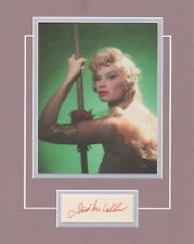 IRISH McCALLA-SHEENA-QUEEN OF THE JUNGLE-SIGNED CARD & PICTURE DISPLAY- AFTAL