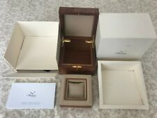 Vintage Breguet Wood Watch Box Case, Complete Set with Original Warranty Booklet