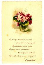 CPA Fantaisie Bouquet de  Fleurs Lamartine poèsie fantasy postcard