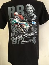 "Jarno Saarinen ""250cc Motorcycle World Champion 1972"" T-SHIRT - Black - 2XL"