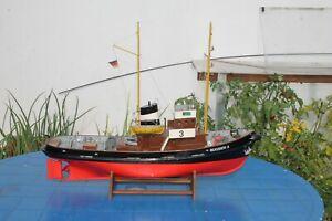Bugsier 3 Hafenschlepper von Graupner fertig Aufgebaut mit Elektronik