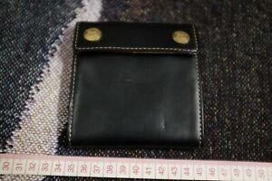 RRL Wallet Double RRL Concho Wallet Discontinued Black Leather Aging