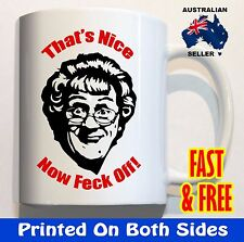 Mrs Browns Boys That's Now Feck off Coffee Mug Cup Funny Birthday Gifts