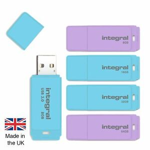8GB 16GB 32GB 64GB USB Memory Stick for Windows or iMac, in Pastel Colours