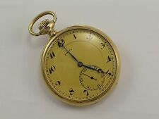 Antique ZENITH 18K SOLID GOLD MECHANICAL POCKET WATCH