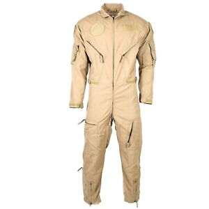 Original Dutch army aramid carbon fiber flight suit coverall pilot fighter beige