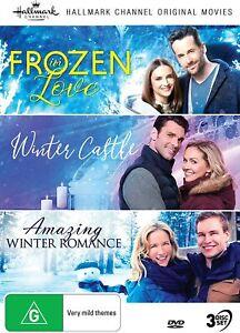 HALLMARK 3 Film Collection (Region 4) DVD Frozen In Love Winter Castle Amazing