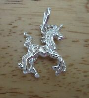 Sterling Silver 3D 27x19mm Bright Magical Unicorn Charm!