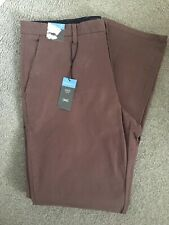 "MARKS & SPENCER MENS MAUVE BROWN REGULAR FIT CHINO TROUSERS WAIST 38"" Leg 33"""