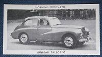 SUNBEAM TALBOT 90   Original 1950's Vintage Photo Card