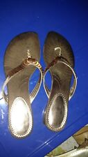 Womens Bronze Coin Sandals size 11 new