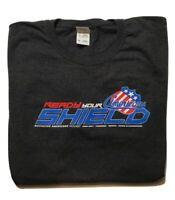 AHL Roch Americans/Amerks Hockey READY YOUR SHIELD Promo Short Sleeve Shirt XL