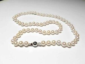 Collana perle naturali akoya NATURAL PEARL NECKLACE  chiusura oro GOLD 750/1000