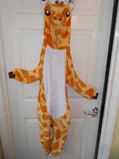 Youth/Kids Giraffe All In One Fleece Jumpsuit Playsuit Pyjamas With Hood 115cm