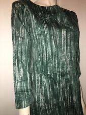 Nouvelle annonce Sarcelle vert Toast Aichi Imprimé Coup De Pinceau 100% coton Shift Dress UK 14