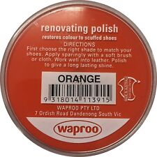 ORANGE Shoe Polish Cream Restore Colour to Leather SHOES / BOOTS /  WAPROO