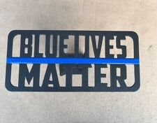 """Blue Lives Matter Hitch Cover - 1/8"""" Steel - Tow Towing Reese Custom"""