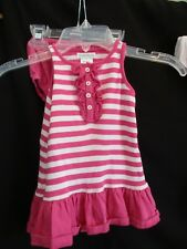 RALPH LAUREN BABY GIRL TENNIS DRESS SLEEVELESS  PINK WHITE STRIPE 9M  SUMMER