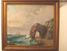 """Helgoland - selenes Gemälde von """"Mohrmanns Gatt"""" GEORG WILKING 1911"""