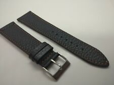 New Geckota 22mm Genuine Leather Black Classic Watch Strap B