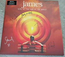 James SIGNED DBLE LP Girl At The End Of The World