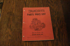Ducati Parts Price List 1979 berliner bevel squarecase roundcase 900SS 750 SD900