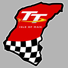 TT ISLE OF MAN ILE DE MAN BIKER 100mmX100mm AUTOCOLLANT STICKER MOTO GP(IA070)