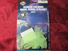 Glow-In-Dark Plastic Wall Ceiling Stars Planets Moons 12 pc