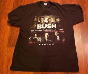 Original Worn BUSH Tour Concert Shirt Filter Chevelle 2011 SZ Large