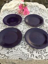 "FIESTA 4 NEW PLUM purple DINNER PLATES 10-1/2"" PLATES Fiestaware PLATE  Set of 4"