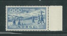 Norway Scott # B52 MNH Semi Postal 1952 Oslo Olympics
