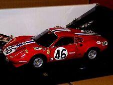 FERRARI  DINO 246 GT #46 LM1972 ROSSA RED  ELITE HOT WHEELS T6258  1:18
