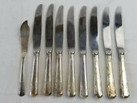 Vtg Harmony House Wallace XXXX Personality 9 Knives Silverplate Flatware 1938