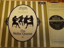 SXL 6151 Brahms String Quartets Op. 51 Nos. 1 & 2 / Weller Quartet W/B