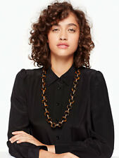 Kate Spade Out of Her Shell Necklace NWT Classic Tortoise Shell Links LONG LINKS
