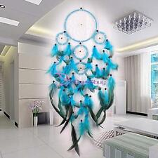 Dream Catcher Handmade With Feather Wall Hanging Decoration Ornament Gift Blue