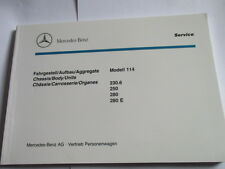 Benz W114 230.6 250 280 E Construction Chassis Picture Board Spare Parts List