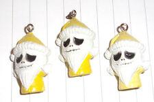 Kawaii Nightmare Before Christmas plastic 3d Jack Santa Charms  x 3 Kitsch yello