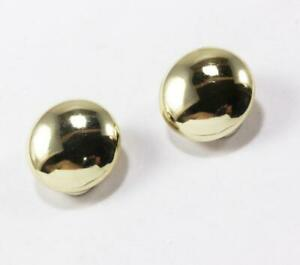 ROBERTO COIN 14K YELLOW GOLD ROUND STUD BUTTON HEART CUTOUT CLIP-ON EARRINGS