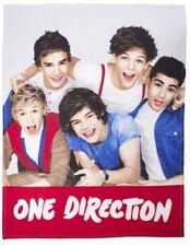 One Direction Fleece Blanket - 'Craze' 1D Bed Throw Teenagers Kids Bedding