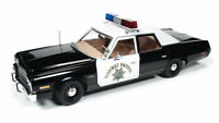 1:18 Ertl Auto World AWSS112 1975 Dodge Mónaco Policía Pursuit Chips Patrol