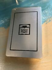 Vintage Yellow Pages Bridge Size Deck of Playing Cards (Sealed/New)