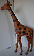 "Vintage Giraffe Large Leather India Figure 24"""